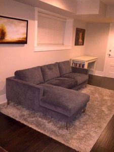 Livingroom couch and workstation