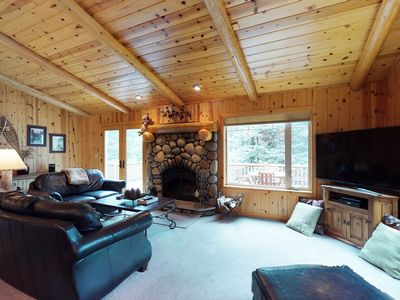 Photo for NEW LISTING! Dog-friendly gorgeous wood home w/deck, near trails/skiing/town