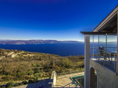 Photo for Holiday house with fantastic sea view and pool - spring offer from 27. 4.-19. 5th