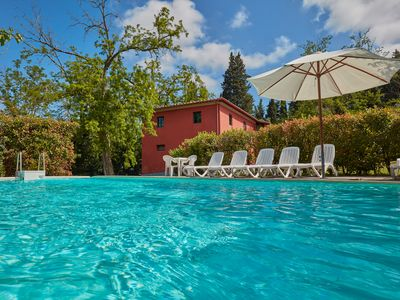 Photo for Farmhouse with private pool near Ghizzano in Tuscany