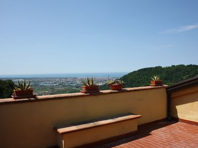 "Photo for La ""small"" Volpaia: fantastic sea view on the Tuscan coast"