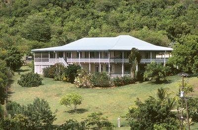House and Garden, Pool area is at the rear on left, we are 5 minutes from beach.