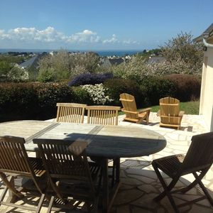 Photo for Big House (180 sqm) with stunning views over the bay of Saint Brieuc