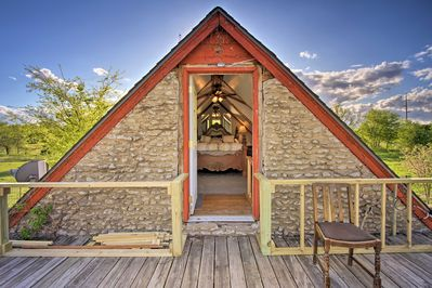 This charming cottage features 1 lofted bedroom and 1 bathroom.