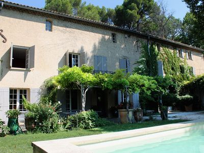 Photo for Country house with pool at the foot of Mont Ventoux in the heart of the vineyard Vacqueyras