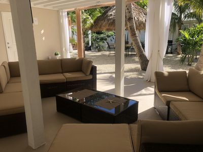 Photo for Tiki Garden Getaway Special SPA area and outdoor living room. Must see!