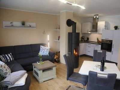 Photo for Excl. App. Amber, fireplace, washing machine, 250 m to the beach - Appartement Bernstein, BE