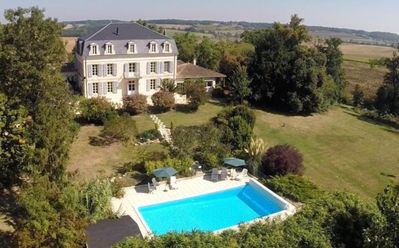Photo for Magnificent C19th Napoleonic Château with private pool, 30 mins from Bergerac