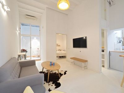 Photo for Loft Picasso apartment in El Borne with WiFi, air conditioning & private terrace.