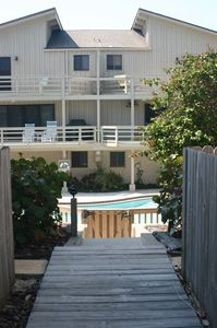 View of unit group from beach access