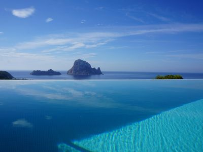 Photo for Spectacular view to Es vedra house with private pool