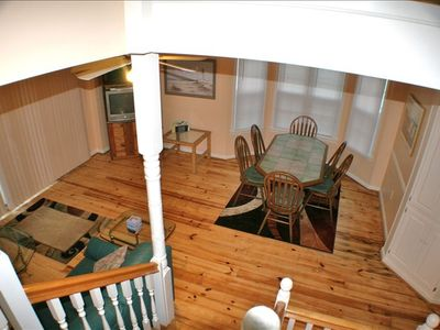 view of living area,  from stairs
