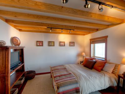 Photo for Cozy Timber Frame Cabin with Private Hot Tub and Amazing Views!