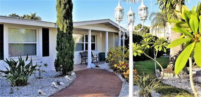 Photo for Charming beach house on Longboat Key, with private pool&beach access, pool, pet