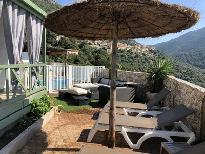 Photo for Chalet gitotel with terrace panoramic view and swimming pool