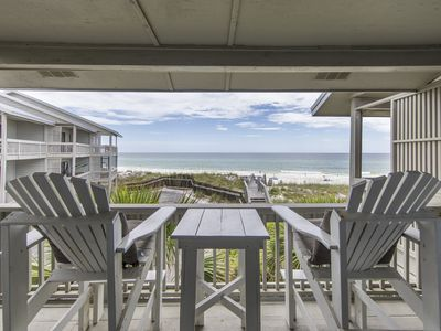 Photo for Beachfront Townhouse Sitting on the Sand in 30A. Two Private Balconies. Private Community Beach