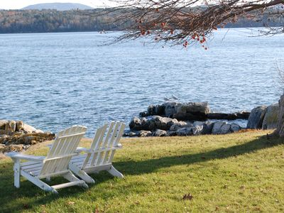 Photo for Oceanfront Cottage with Panoramic Views of Acadia and Bar Harbor