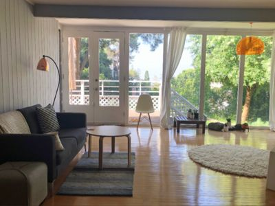 Photo for Light filled minimal home w views atop Los Feliz hills, minutes from main st
