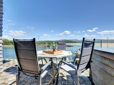 Photo for The Boathouse provides high quality accommodation with fantastic views over Porthmadog harbour and b