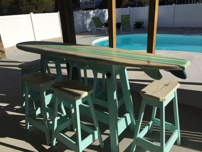 Recently renovated beautifully appointed 6 vrbo enjoy our pools surfboard bar picnic table and lounge chairs watchthetrailerfo