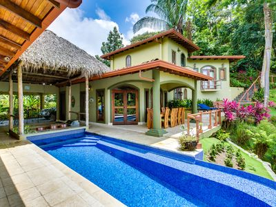 Photo for Luxury Mountain Estate With Many Monkeys Ocean View Pool Gated Maids AC