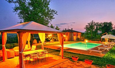 Photo for Wonderful private villa with hot tub, private pool, WIFI, TV, pets allowed, panoramic view, parking
