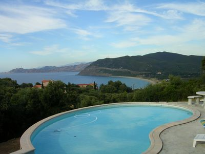 Photo for CLIMATISEE VILLA WITH PRIVATE SWIMMING POOL, PINEDE 7000 M2, near ILE ROUSSE