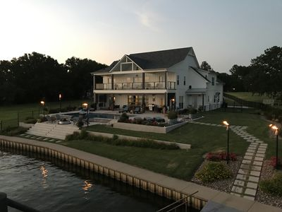 Photo for Ultimate Family/Entertainers Dream Lakehouse! Pool, Double Deck Boat Dock,