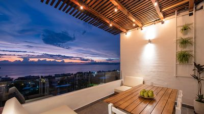 Photo for Beach House on the Hill - with Ocean Views, 4 blocks to beach and downtown