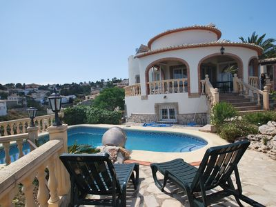 Photo for Wonderful villa with stunning sea and panoramic views and private pool