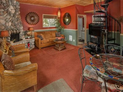 Photo for Wine Country Cottage Nestled in Trees Near Vineyard With Fire-pit and Private Wooded Patio