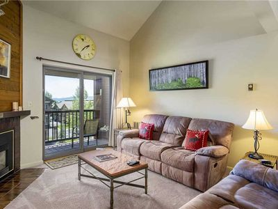 Photo for Summer Condo w/Vaulted Ceilings, Jetted Tub & Onsite Heated Pool!