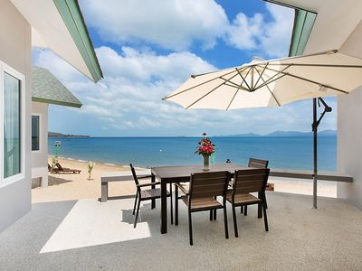 Photo for The Moonrakers Absolute Beachfront Villa
