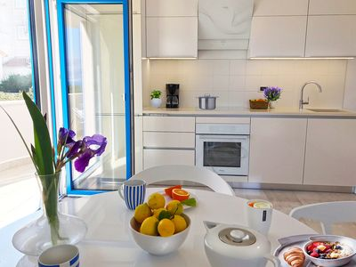 Photo for Modern apartment (4 + 1), SEA VIEW, air conditioning, internet, parking