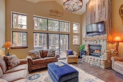 Village Point 109 - a SkyRun Breckenridge Property - Cozy up by your gas fireplace while enjoying a movie on the flat screen TV