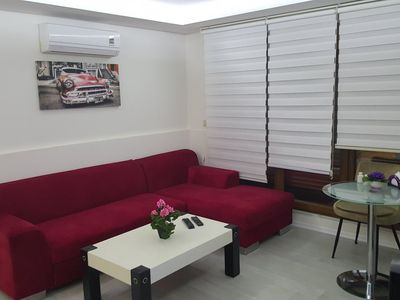 Photo for Rental Ultra Lux 1+1 Apartment in Istanbul Mecidiyekoy. Super fast Wifi Internet , 42 LED TV, air conditioning , underfloor heating , No-Frost Refrigerator
