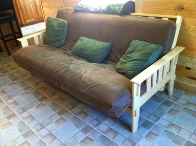 2 Futons in living room