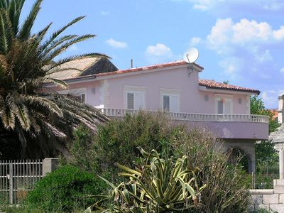 Photo for Two bedroom apartment with terrace and sea view Sućuraj, Hvar (A-5680-a)