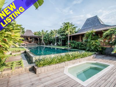 Photo for Marika Sawah 6 Bedroom Villa, Rice Field View, Feature Pool+Breakfast, Canggu