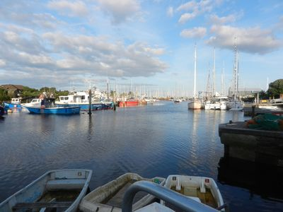View from the Quay - Lymington River.