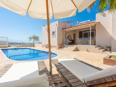 Photo for Villa Thetis: Large Private Pool, Walk to Beach, Sea Views, A/C, WiFi, Car Not Required, Eco-Friendl