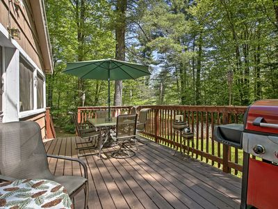 Photo for Rustic Goshen Cabin w/ Fire Pit, BBQ & Great Deck!