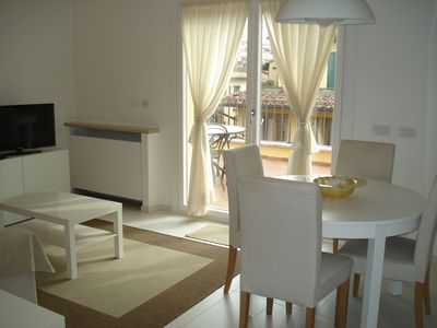 Living-dining area with large terrace right outside your door for dining!