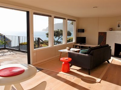 Photo for Water view apartment with large private deck, in Old Town Tiburon