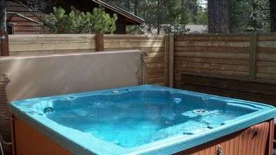 our spacious private hot tub