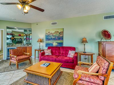 Photo for Soothing gulf view home with secluded patio, onsite amenities, and shared pool