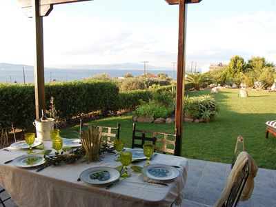 Photo for *Marina's paradise garden, luxury sea view, 2 minutes from the sea on foot.