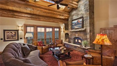 Photo for Custom 4BR Log Home + Hot Tub + Ping Pong + Ski Shuttle + Elevator - Panorama Lodge South