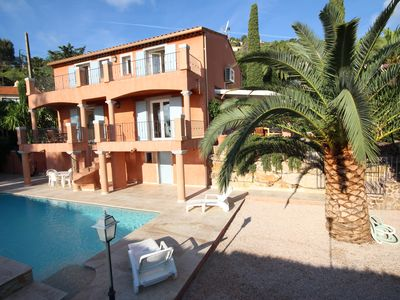 Photo for AIR CONDITIONED VILLA WITH 4 BEDROOM POOL AND GARDEN - SEA VIEW