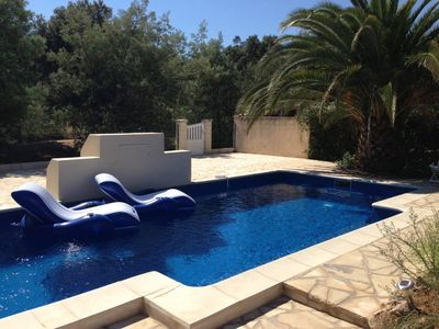Photo for Beautiful luxury villa, 300m from the beach, 10 people
